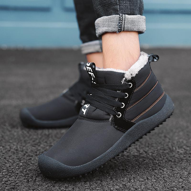 Warm And Velvet Thickening Waterproof Non-slip Outdoor Cotton Shoes