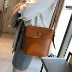 Load image into Gallery viewer, Women's Leather Bucket Bag