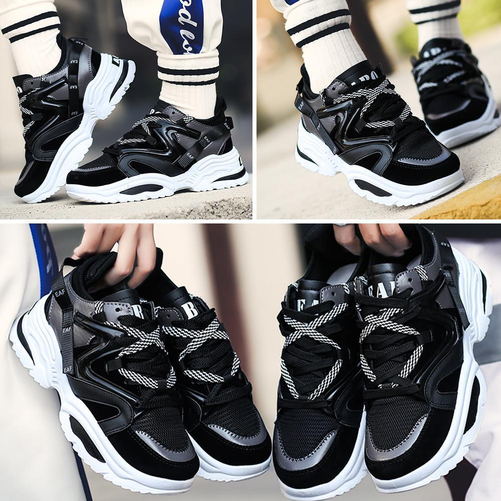Fashion Chunky Sneakers Platform Lace Up Dad Shoes for Walking