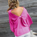 Load image into Gallery viewer, V-Neck Bowknot Blouses