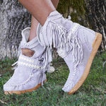 Load image into Gallery viewer, New Women's Tassel Faux Suede Winter Boots