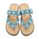 Load image into Gallery viewer, Women's Bohemian Sparkle Bling Flip Flops