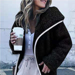 Load image into Gallery viewer, Women Hooded Sherpa Coat Shawl Collar Solid Teddy Bear Coats