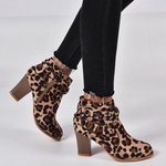 Load image into Gallery viewer, Women Round Toe Ankle Boots