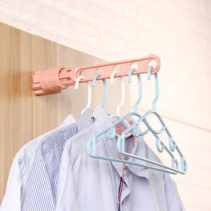 Folding Wall Mount Clothes Hanger