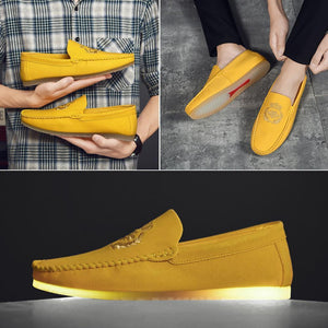 Men's Embroidered Loafers
