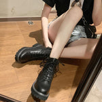 Load image into Gallery viewer, WOMEN'S Genuine Leather straps Martin Boots
