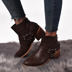Load image into Gallery viewer, Women Round Toe Med Vintage Short Boots