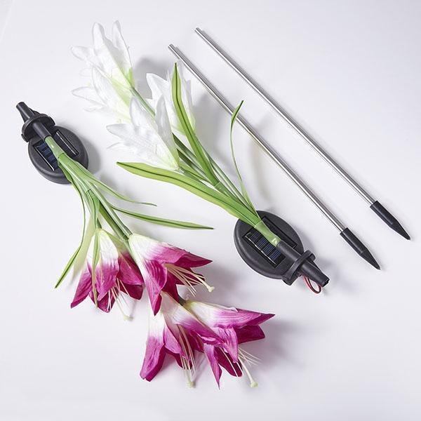 Solar Powered LED Flower Stake Set