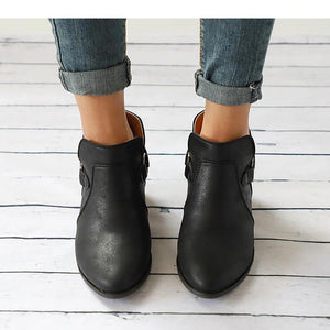 Women Genuine Leather Cossacks Ankle Boots