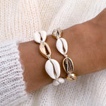 Load image into Gallery viewer, Women Cowrie Shell Bracelets Delicate Rope Chain Bracelet