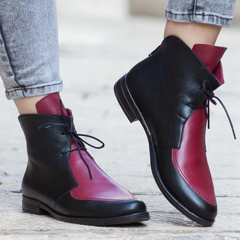 Women Platform Lace Up Buckle Shoes