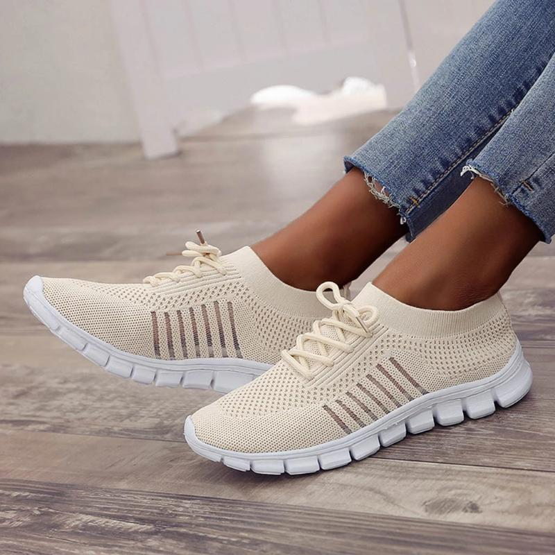 Women Walking Mesh Lace Up Casual Breathable Sneakers