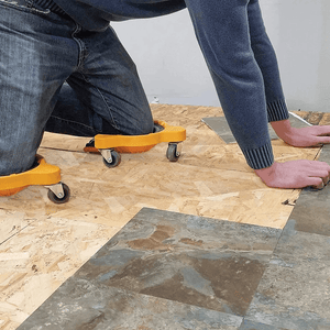 Flooring Knee Silicone pads With Wheels