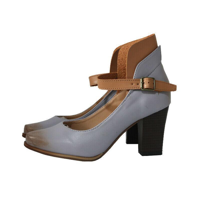 Women Mid Block Heel Mary Jane Strap Dolly Shoes
