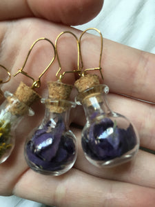 Earrings - Glass bottles