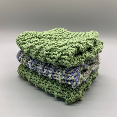 Dishcloth Set - Green & Purple