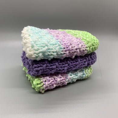 Dishcloth set - Lavender & Stripes