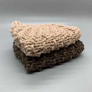 Dishcloth set - Shades of Brown