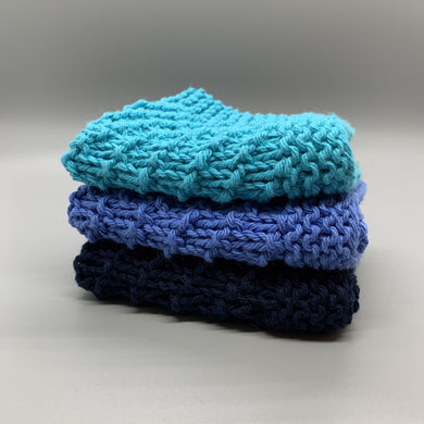 Dishcloth set - Shades of Blue