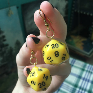 Earrings - Dungeon & Dragon D20 Dice