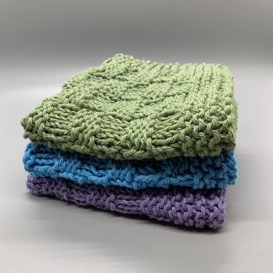 Dishcloth Sets - Cool colors