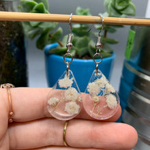 Load image into Gallery viewer, Floral Resin Earrings - Rose Petals & Baby's Breath