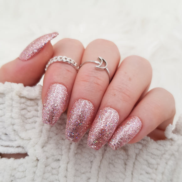 Crushed diamond: Sweet pink