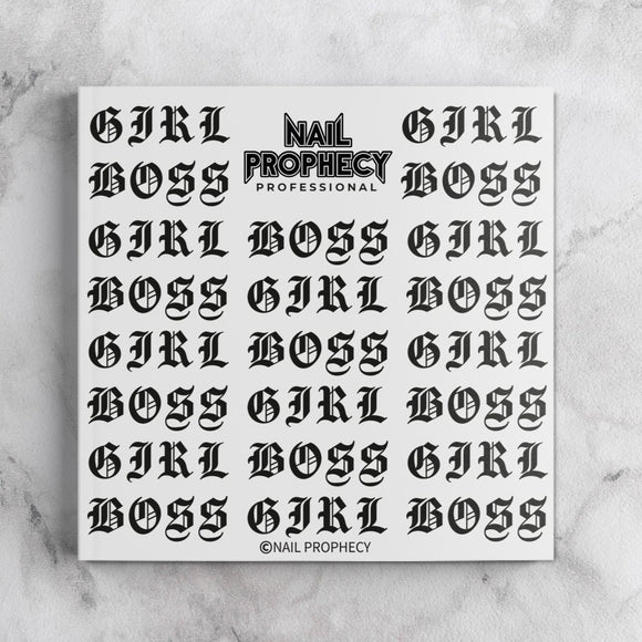 PRO Edition: Girl Boss water décals pour ongles