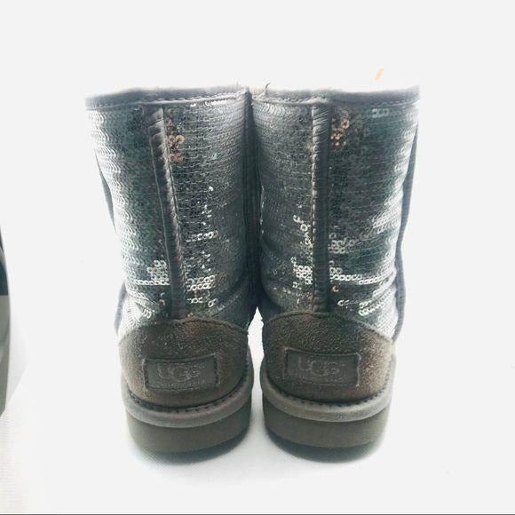 UGG boots size 2 silver