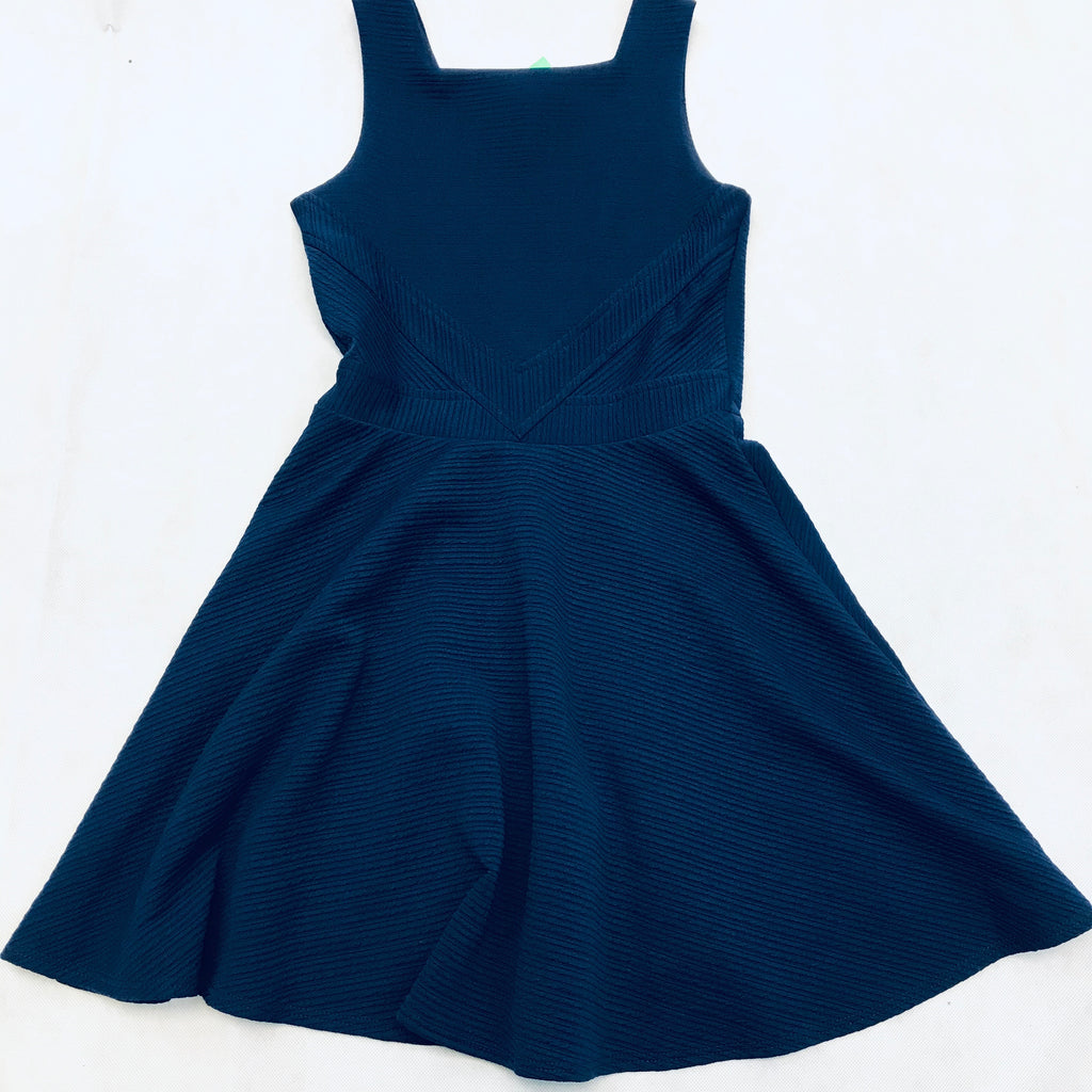 Sally Miller The Carrie Fit-and-Flare Dress, Size 10 | Color  Navy |designer-Party Dress