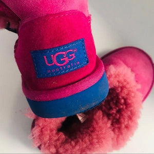 Ugg boots size 11 toddler pink and blue