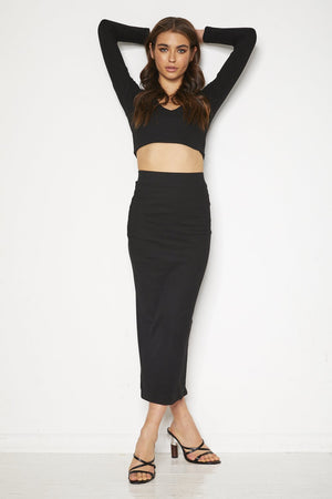 Ariadna Crop Top - Black