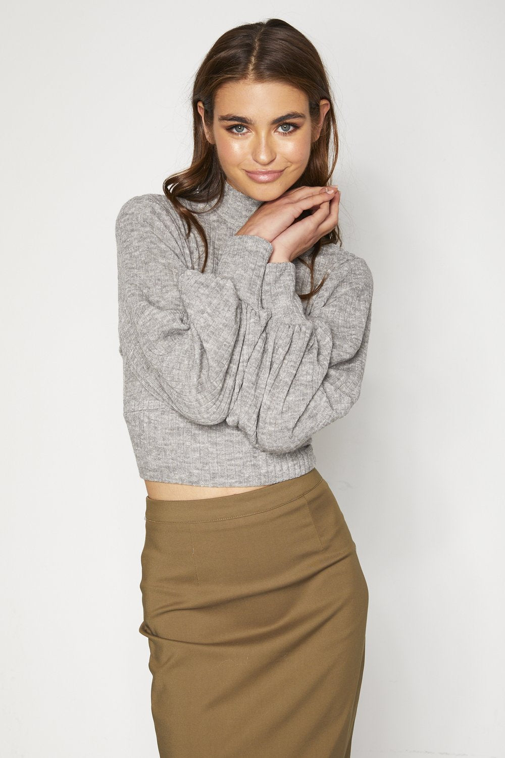 Daphne Knit Top - Grey
