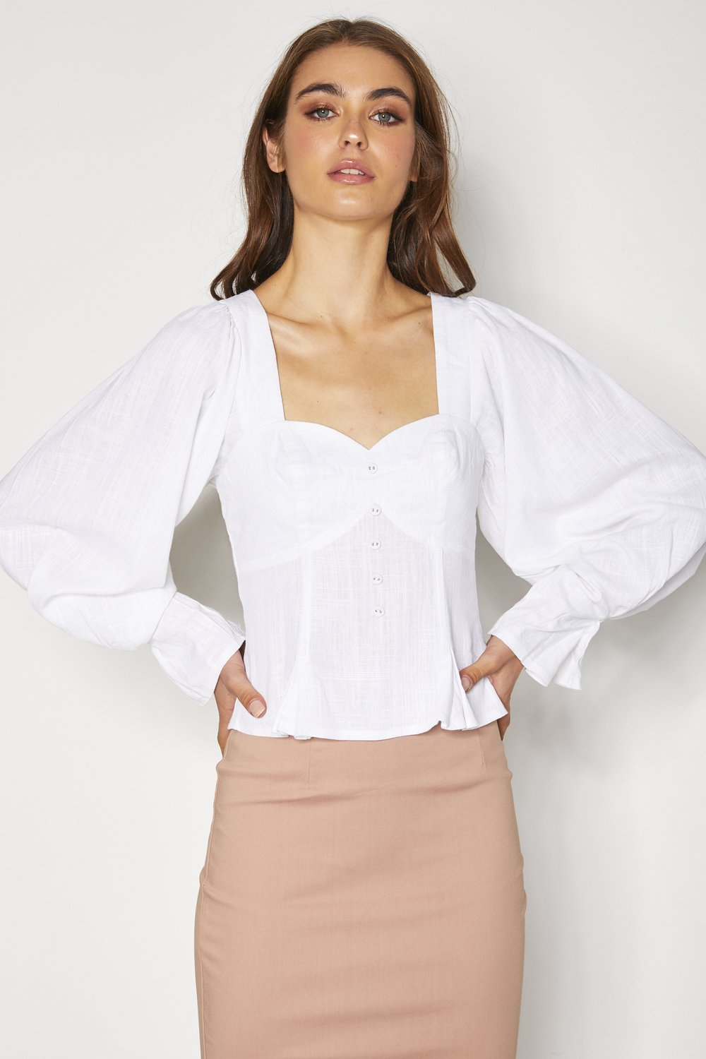 Constance Top - White