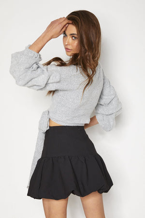 Sulmona Crop Top - Grey