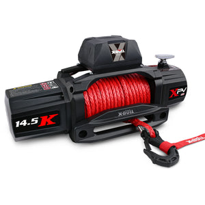 X-BULL Electric Winch XPV 14500 lb 12V Synthetic Red Rope New Arrival