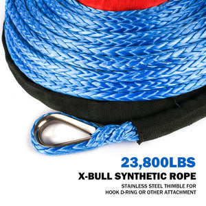 "Dyneema Synthetic Winch Rope  (Blue) SK75 3/8"" x 100ft"