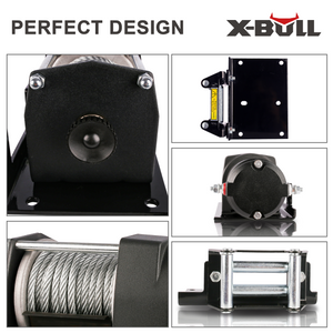 X-BULL Electric Winch 3000LBS 12V Steel Cable New Remote Wireless ATV