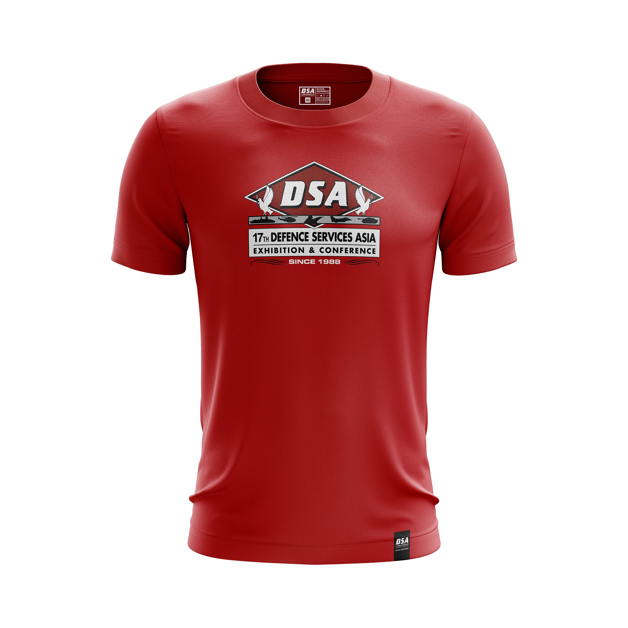 DSA Colour Printing Comfort Round Neck T-Shirt Red - DSA 2020 Official Merchandise
