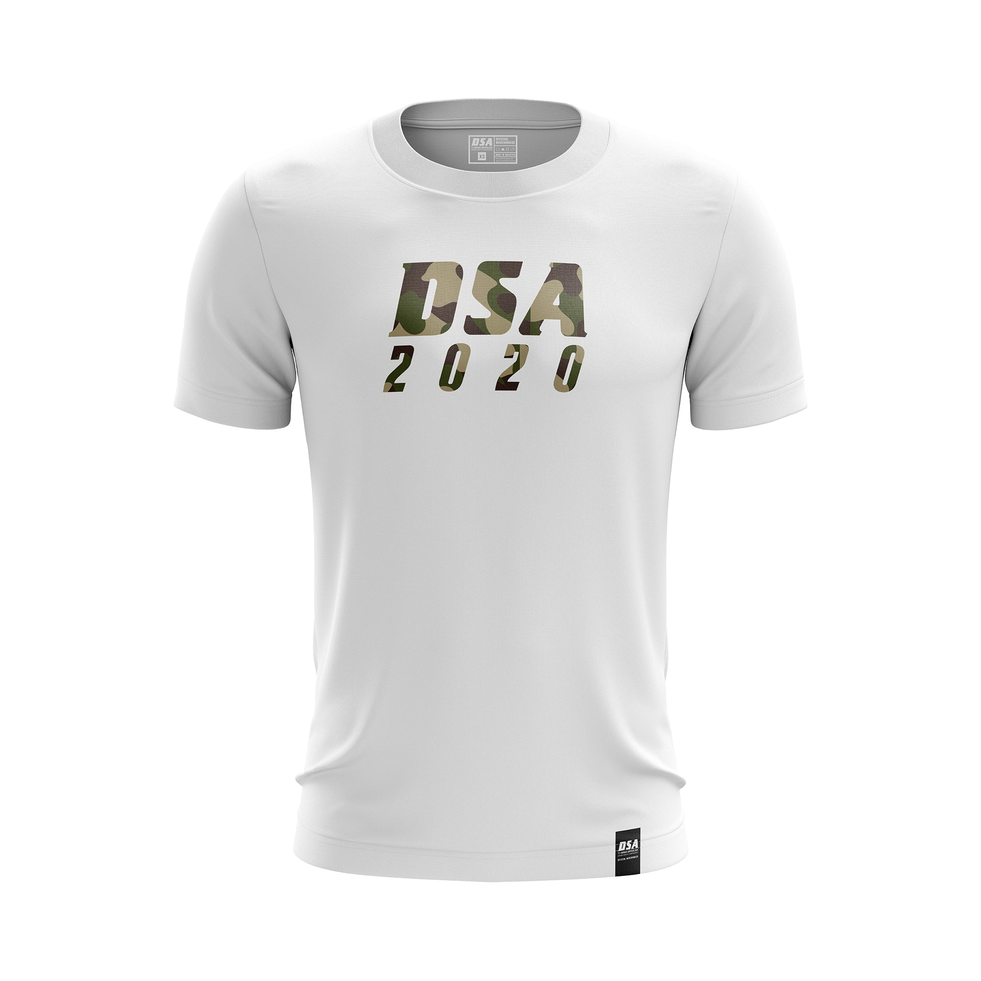 DSA Camouflage Effect Comfort Round Neck T-Shirt White - DSA 2020 Official Merchandise