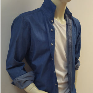 CAMISA DENIM ALGODÓN SLIM FIT