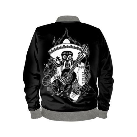 LIMITED EDITION: Mens Día de Muertos Bomber Jacket - Audio Architect Apparel