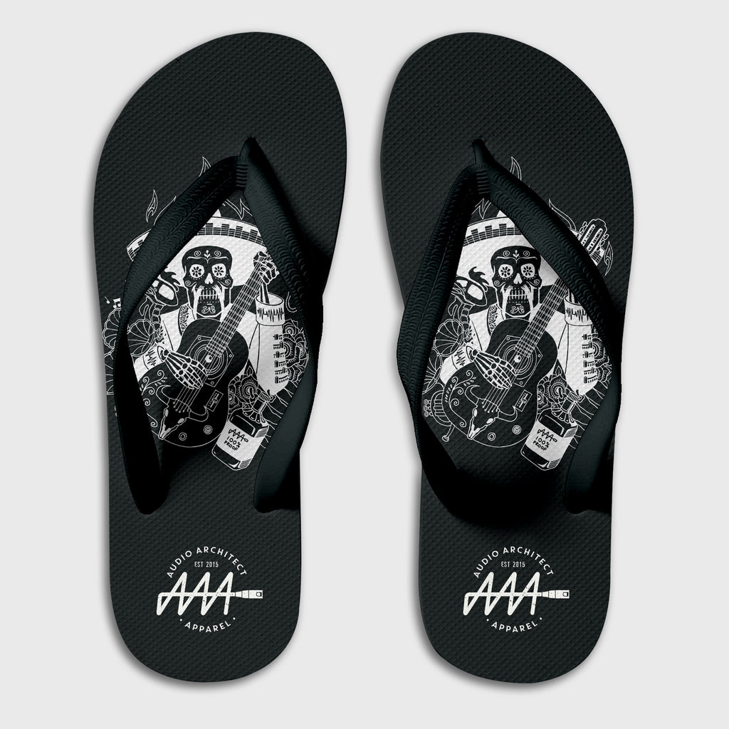 Dia De Muertos Flip-Flops | Audio Architect Apparel