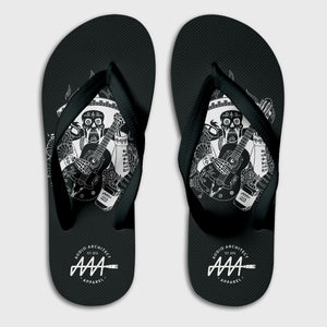 Dia De Muertos Flip-Flops - Audio Architect Apparel