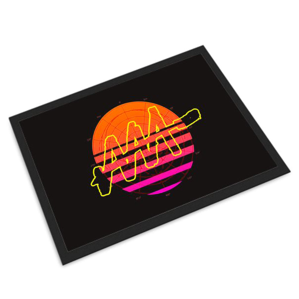Sunset Retrowave Doormat | Audio Architect Apparel