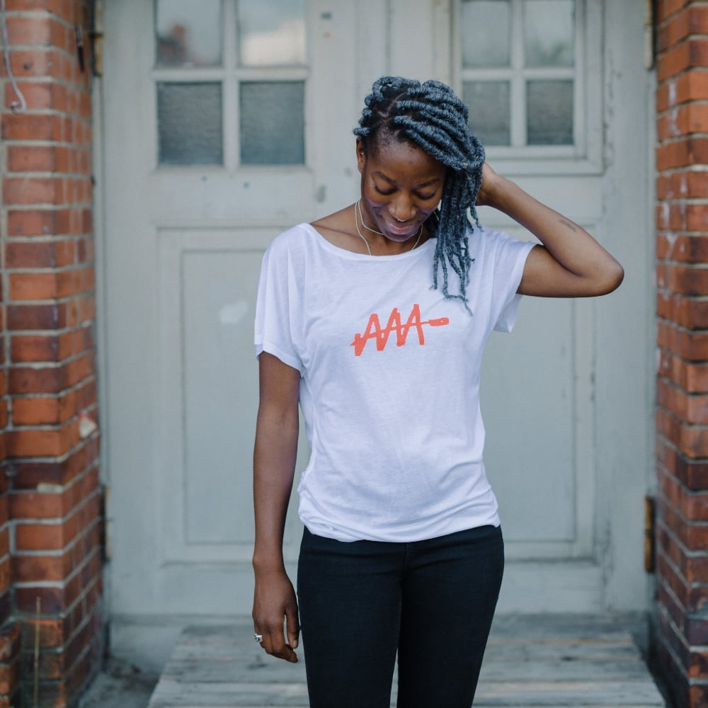 Women's Large Graffiti Tag Batwing T-Shirt | Audio Architect Apparel