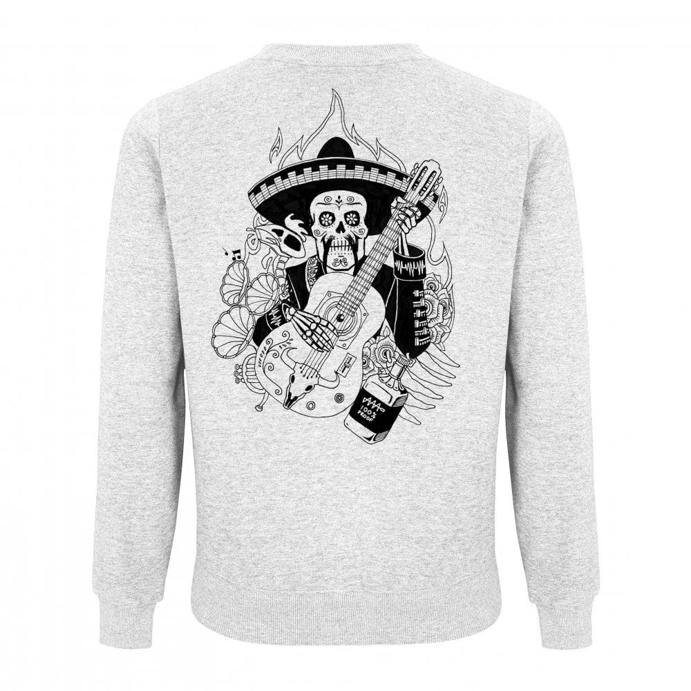Día de Muertos White Sweatshirt - Audio Architect Apparel