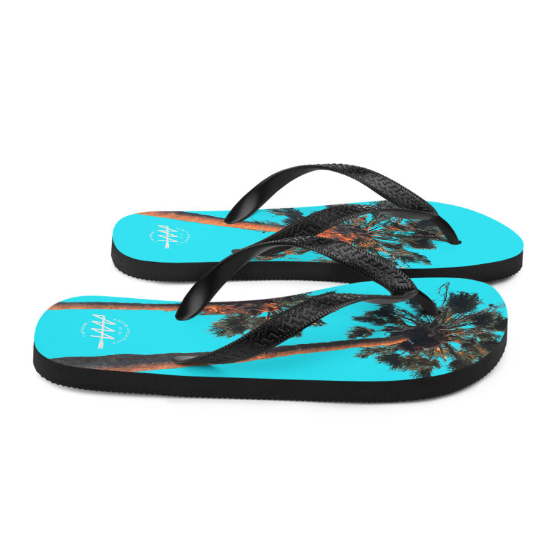 Sunset Palm Flip-Flops | Audio Architect Apparel