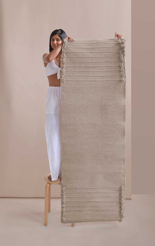 Eco-friendly Yoga Mat, organic cotton yoga mat, herbal dyed, plant dyed, yoga rug